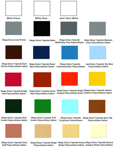 Mega Gloss Marine Topside Paint Polyurethane Enamel For