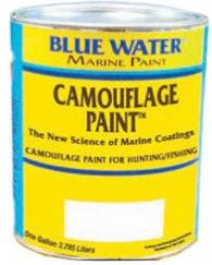 Camouflage paint for fishing and hunting boats