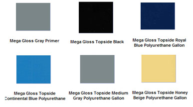 Mega Gloss Gold Premium Topside Silicone Enamel Blue