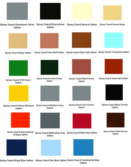 Epoxy Paint Color Chart